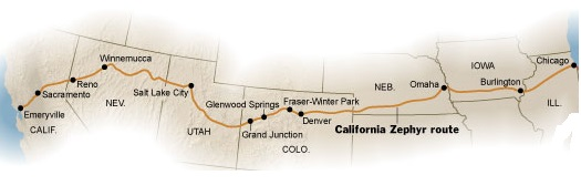 Route of The California Zephyr