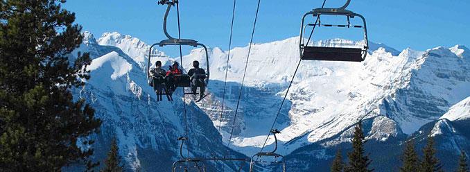 Skiing in Alberta
