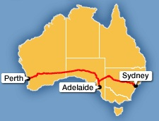 Indian Pacific Route Map